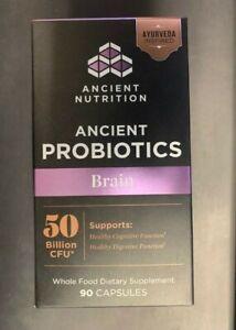 Ancient Nutrition Probiotics Brain Support 50 Billion CFU 90 Capsules Exp.8/2021