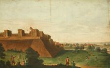 Antique museum etching; Windsor Royal Castle and Palace 1700's