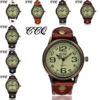 New Women's Casual Quartz Leather Band Watch Analog Wrist Watch Bracelet Watches