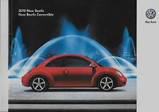 VW VOLKSWAGEN BEETLE AND BEETLE CONVERTIBLE USA SALES BROCHURE FOR 2010