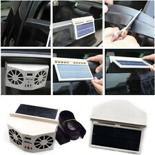Solar Powered Car Front/Rear Window Air Vent Cooler Dual Fan Radiator Necessary