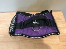 New listing Removable Label Service Dog Harness, Purple/Black Size Large