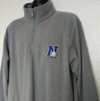 Wear Guard Polartec Men's XL Sweatshirt Navy College 1/4 Zip Pullover Gray EUC