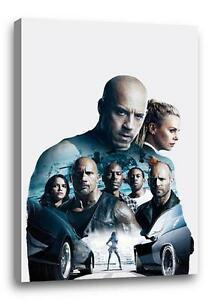 FAST AND THE FURIOUS 8 CANVAS Fate Photo Poster Print Wall Art 30x20 CANVAS