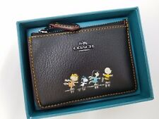 Coach x Peanuts 16108B Boxed Snoopy Mini Skinny ID Case Wallet Black NWT