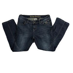 Harley Davidson Genuine  MotorClothes Women's Jeans Sz 10 Petite Stretchy