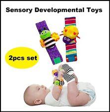 Brand New Baby Toys Wrist Rattles 2pcs Set Multicolor Sensory Toys