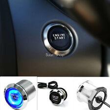 Car Engine Start Push Button Switch Ignition Starter Touch Kit Blue Illumination