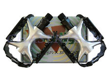 "New Wellgo MTB Road Bicycle Bike Alloy Pedals Cr-Mo Axle 9/16"" Black"