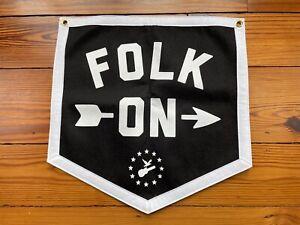 """Newport Folk Festival """"Folk On"""" Felt Oxford Penant"""