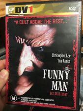 Funny Man region 4 DVD (1994 Christopher Lee horror movie) RARE