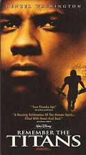 Denzel Washington--Remember the Titans--VHS Video