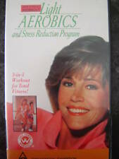 JANE FONDA ~ LIGHT AEROBICS + STRESS REDUCTION PROGRAM  VHS VIDEO