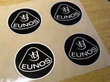 Badge, plastique, Eunos Roadster, style rétro, 55mm, noir / argent, set de 4 badges