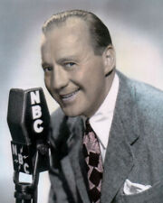"JACK BENNY HOLLYWOOD ACTOR, COMEDIAN 8x10"" HAND COLOR TINTED PHOTOGRAPH"