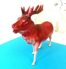Antique Celluloid Reindeer Figure Red stone eyes Japan Stunning