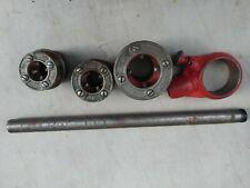New listing Ridgid 111R, Pipe Ratchet Threader Set 3 Cutter Heads Inserts 1/2, 3/4, 1 1/4