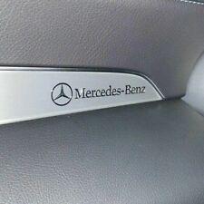 2 x AMG Mercedes Benz chrom Logo Alu Sticker Emblem Schriftzug 3D 52mm x 6mm !