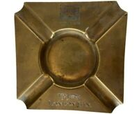 Vintage Brass Ashtray Gilbey's London Gin Pantheon