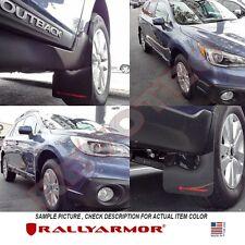 Rally Armor Mud Flaps For 2015-2017 Subaru Outback Wagon Black w Grey Logo