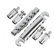 Roller Saddle Locking Pots Electric Guitar Tune-O-Matic Bridge Chrome Parts HS