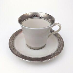Castleton Studios Evening Reflections Platinum Tea Cup & Saucer, Gary Barr