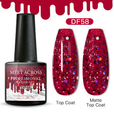 Meet Across Christmas Uv Gel Nail Polish Soak Off Manicure Xmas Red Gel 6ml Diy