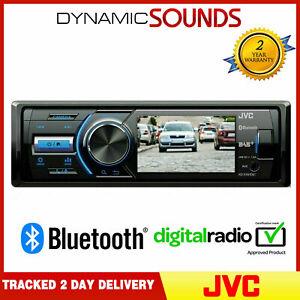 JVC KD-X561DBT Mechless MP3 Car Radio with Bluetooth DAB USB iPod Aux