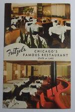 1950'S PHOTO POSTCARD FRITZEL'S STATE & LAKE ST RESTAURANT CHICAGO ILLINOIS