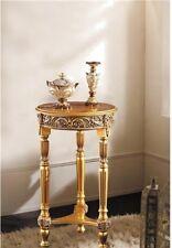 Blumenständer Holz 82x48 Antik Beistelltisch Telefontisch Gold Barock