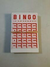 1981 Deluxe Plastic Case Bingo Replacement Bingo Cards Only Pressman
