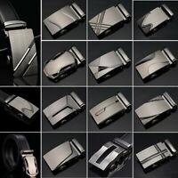 Classic Mens Leather Ratchet Belt Automatic Buckle Belts Waist Strap Waistband