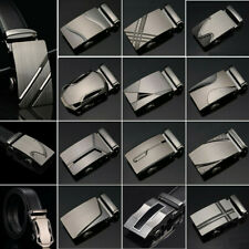 Classic Mens Leather Ratchet Belt Automatic Buckle Belts Waist Strap Waistband