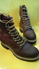 Big Mac Steel Toe Leather Boots  USA Hunting /Work  size 7