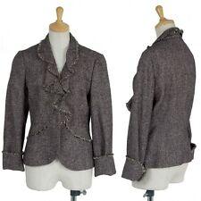 """SALE"" Suna Una fringe button-less jacket Size 40(K-22180)"