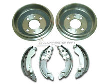 FIAT PUNTO MK1 1.2 8V 1993-1999 REAR 2 BRAKE DRUMS & BRAKE SHOES SET NEW