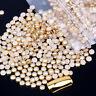 Decorations Beauty Metal Rhinestone Crystal Nail Art Beads Half Round Pearls