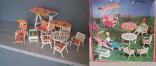 salon de jardin pour maison de poupée