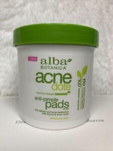 New Alba Botanica Acne Dote Anti Pimple Pads 60 ct Bestby:11/21 4 Pcs