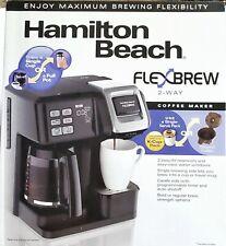 NEW Hamilton Beach FlexBrew 2-Way Coffee Maker - Black- 12 cup -1 cup