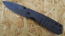 Herbertz Taschenmesser Einhandmesser Messer Damast-Optik Frame-Lock 208413