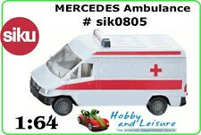 SiKu Mercedes Benz Ambulance 0805. Approx. 3 inches (7 cms,) Long