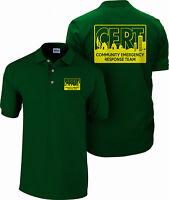 CERT Polo shirt, Community Emergency Response Team shirt, Preparedness, Safety