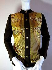Pristine Auth Hermes Silk & Wool Cardigan Jacket Top Sz 38 #scarf  #bag #jacket