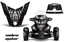 Roadster Hood Graphics Kit Decal Wrap For Can-Am BRP RT-S Spyder WIDOW BLACK
