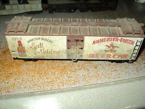 HO Scale Anheuser-Busch Beer Car Reefer
