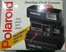 Vintage Polaroid One Step Flash Stripe 600 Instant Film Camera