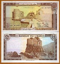 Lebanon, 25 Livres, 1983, P-64 (64c), UNC