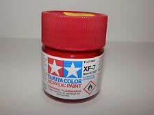 Tamiya Color Acrylic Paint Flat Red #XF-7 (23 ml) NEW