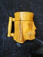 Carved Wooden Mug Or Beer Tankard